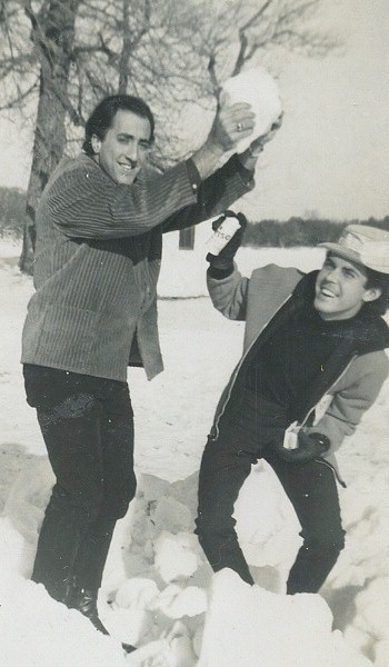 Joe and Bo - Florida boys playing in the snow